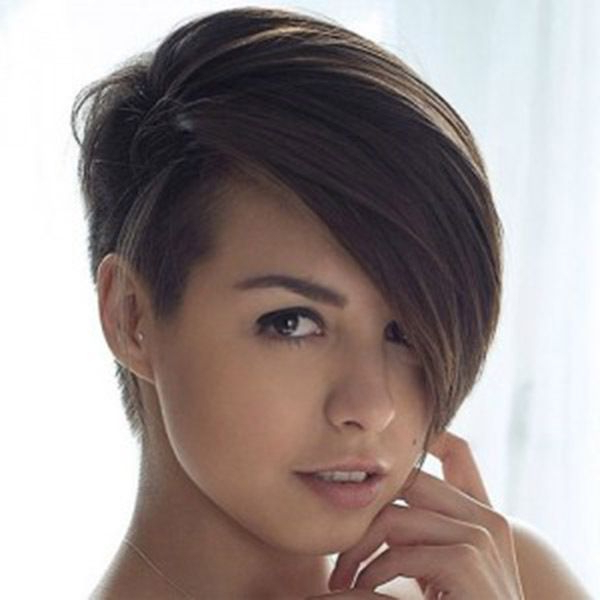 Pictures Of Short Hairstyles With One Side Shaved Hair Style | Style Inside One Side Short One Side Long Hairstyles (View 12 of 25)