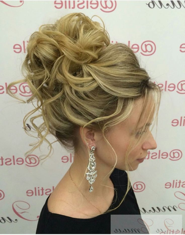 Pincandice Robinson On Formal Hair Styles | Prom Hair Updo Within Big Curly Bun Prom Updos (View 13 of 25)