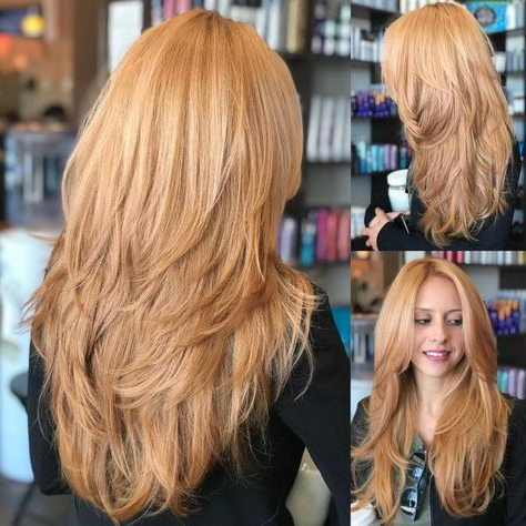 Featured Photo of Long Feathered Strawberry Blonde Haircuts