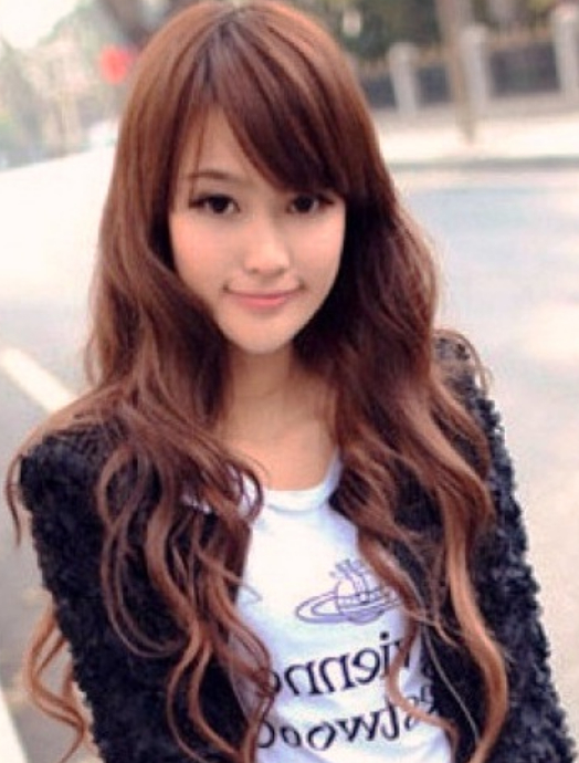 Popular Long Asian Women Hairstyles With Long Curly Hair With Throughout Long Hairstyles For Asian Women (View 20 of 25)