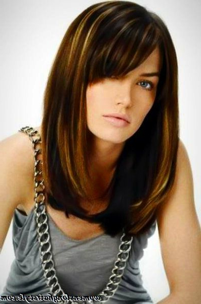 Popular Long Bob Hairstyle With Side Bangs | Women's Long Hairstyles For Long Bob Hairstyles With Bangs Weave (View 6 of 25)