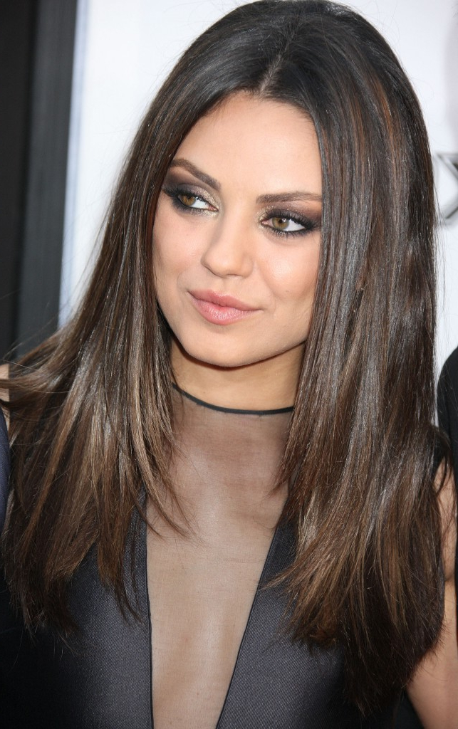 Popular Straight Hairstyles For A Round Face – Hair World Magazine Throughout Sleek, Straight Tresses For Long Hairstyles (View 2 of 25)