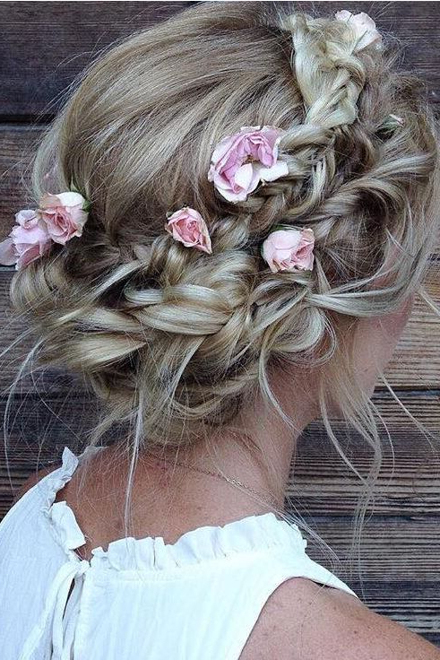 Featured Photo of Floral Braid Crowns Hairstyles For Prom