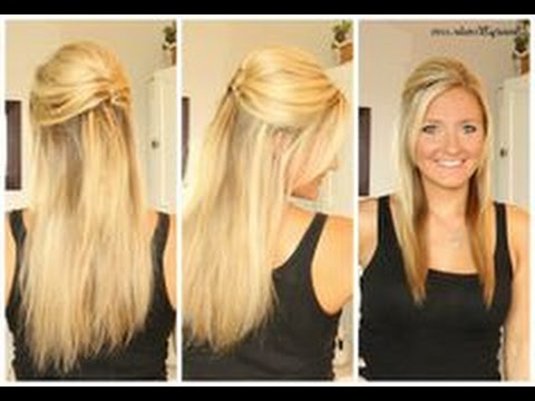 Prom Hairstyle Down Straight – Youtube Regarding Long Hairstyles Down Straight (View 14 of 25)