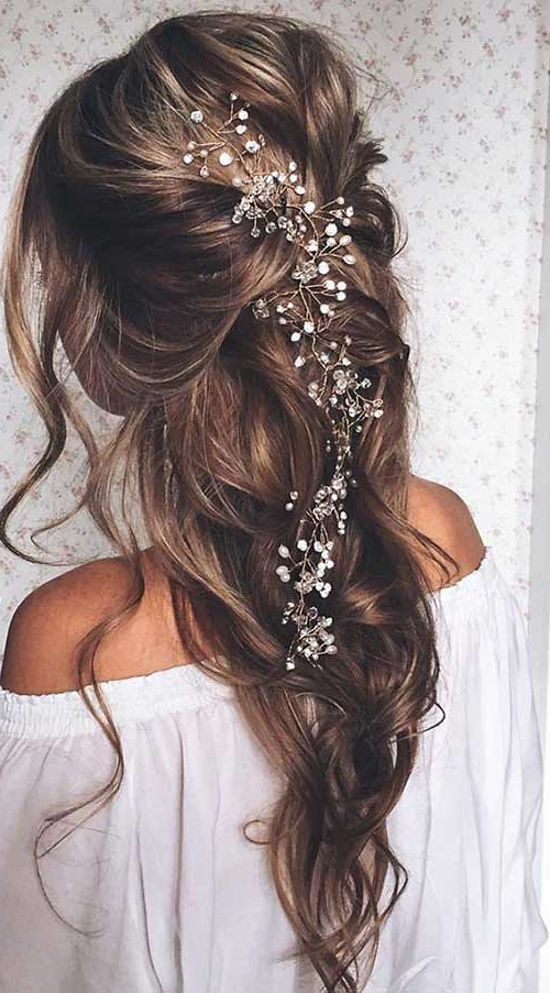 Prom Hairstyles Down For Long Hair With Little Flowers | Flickr Throughout Long Hairstyles Down For Prom (View 13 of 25)