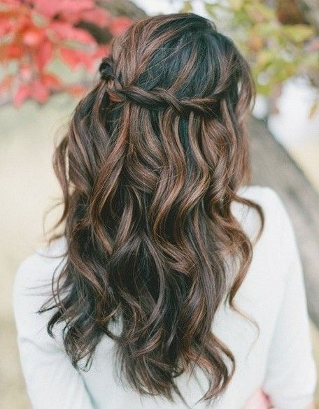 Prom Hairstyles For Long Hair Down Curly | Wedding Hair | Wedding Regarding Wavy Prom Hairstyles (View 6 of 25)