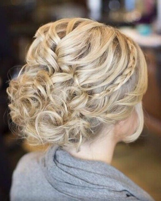 Prom Hairstyles For Long Hair: Messy Braided Updo Hairstyle In Messy Braided Prom Updos (View 17 of 25)