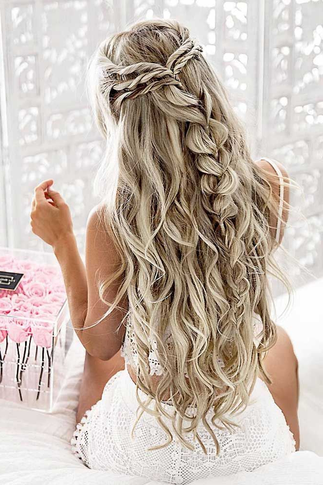 Prom Hairstyles For Long Hair Trending In 2019 Regarding Cascading Waves Prom Hairstyles For Long Hair (View 8 of 25)