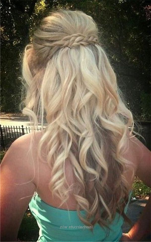 Prom Hairstyles For Long Hair Trending In 2019 With Regard To Long Cascading Curls Prom Hairstyles (View 12 of 25)