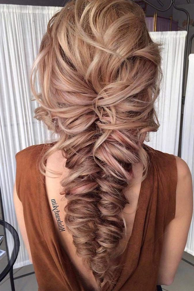 Prom Hairstyles For Long Hair Trending In 2019 Within Curly Knot Sideways Prom Hairstyles (View 24 of 25)