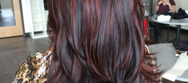 Prom Hairstyles For Long Red Hair Elegant Balayage Red Highlights Regarding Long Hairstyles Red Highlights (View 9 of 25)