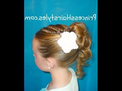 Prom Hairstyles, Formal Updo With An Upside Down French Braid – Youtube In Upside Down Braid And Bun Prom Hairstyles (View 23 of 25)