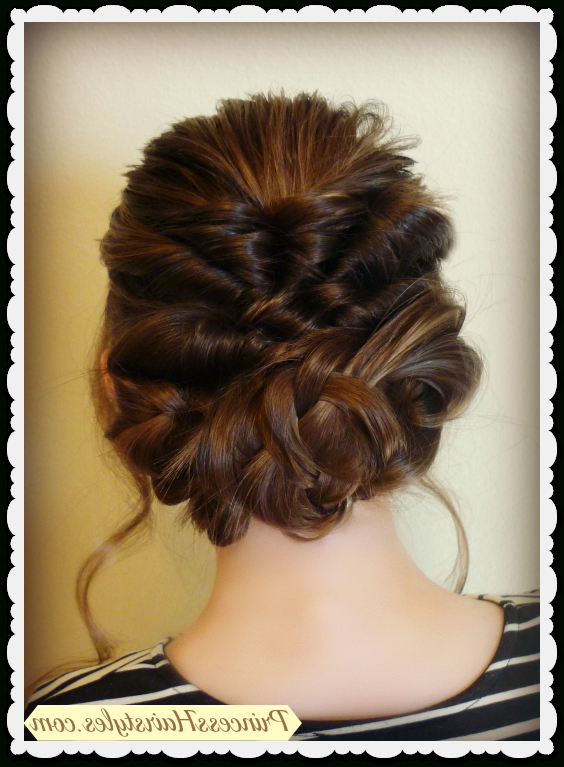 Prom & Wedding Hairstyle! Romantic Updo With Twists & Braids Throughout Twisting Braided Prom Updos (View 5 of 25)