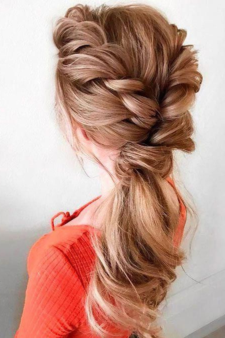 Promhairstylesforlonghair | Prom Hairstyles For Long Hair In 2019 Pertaining To Asymmetrical Knotted Prom Updos (View 7 of 25)