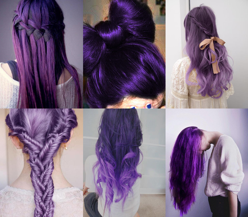 Purple Hairstyles For Long Hair Pictures, Photos, And Images For Pertaining To Purple Long Hairstyles (View 5 of 25)