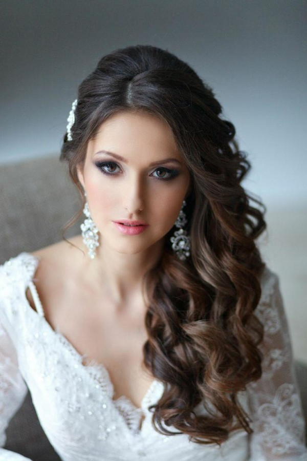 Quenceanera Hairstyles To The Side — Wedding Academy Creative : The For Long Curly Quinceanera Hairstyles (View 24 of 25)