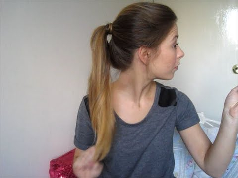 Quick And Easy Textured Ponytail | Long Hair / Long Layers – Youtube Within Ponytail Layered Long Hairstyles (Gallery 9 of 25)