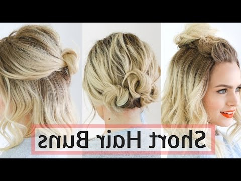 Quick Bun Hairstyles For Short / Medium Hair – Hair Tutorial! – Youtube For Quick Long Hairstyles For Work (Gallery 23 of 25)