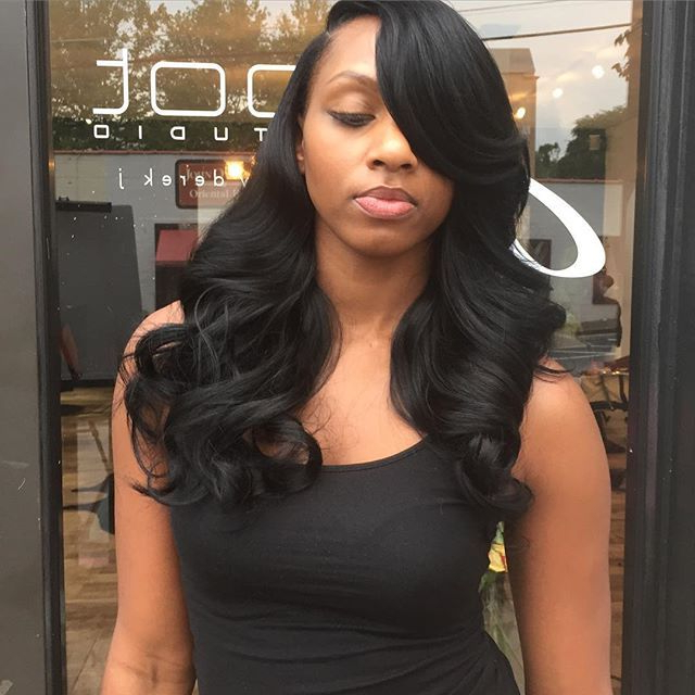 Quick Weave Long Hairstyles In Consort With Colored Hair Cutting With Regard To Long Hairstyles Quick Weave (View 9 of 25)