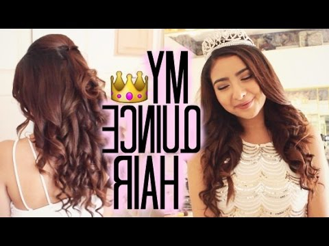 Quinceañera Hairstyle Tutorial #2 – Youtube In Long Curly Quinceanera Hairstyles (Gallery 20 of 25)