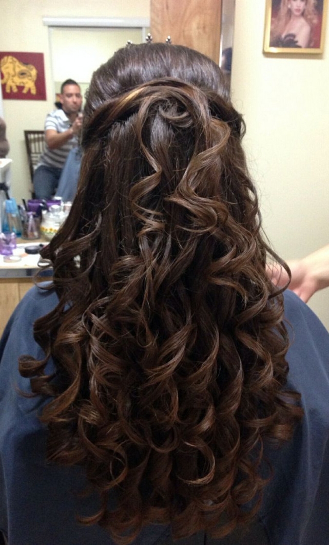 Quinceanera Hairstyles For Long Hair With Tiara | Best Hairstyles With Long Hair Quinceanera Hairstyles (View 12 of 25)
