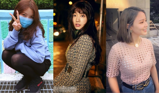 Recent Update On Big Change Of 3 Korean Celebrities Hair Styles With Regard To Long Hairstyles Korean Actress (View 20 of 25)