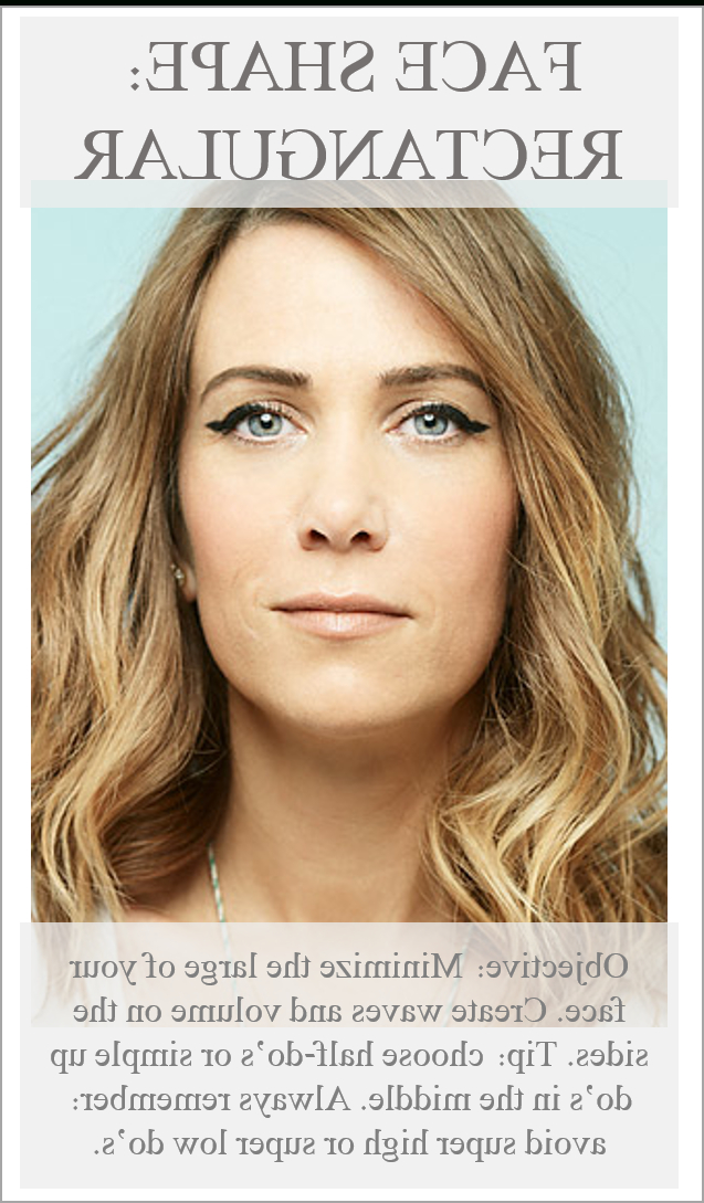 Rectangle Face Shape Do's #faceshapehairstyle | Face Shape With Regard To Long Hairstyles Rectangular Face Shape (View 18 of 25)