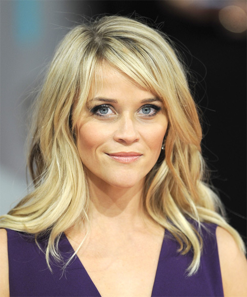 Reese Witherspoon Casual Long Straight Hairstyle With Side Swept Intended For Long Hairstyles Reese Witherspoon (View 9 of 25)