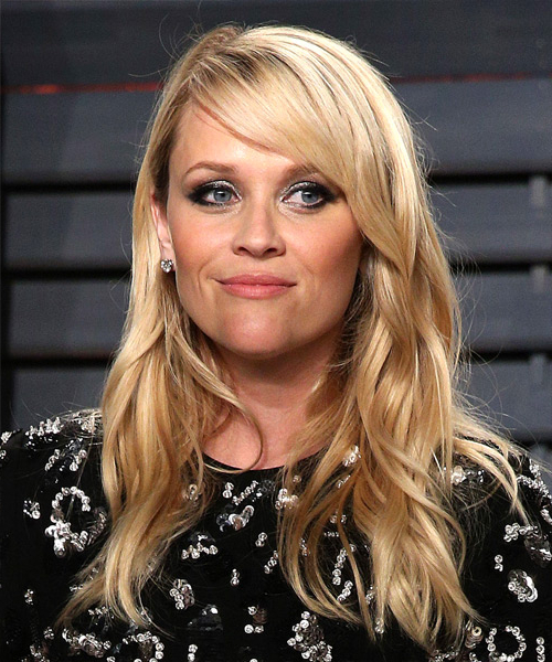 Reese Witherspoon Formal Long Wavy Hairstyle With Side Swept Bangs For Long Hairstyles Reese Witherspoon (View 20 of 25)