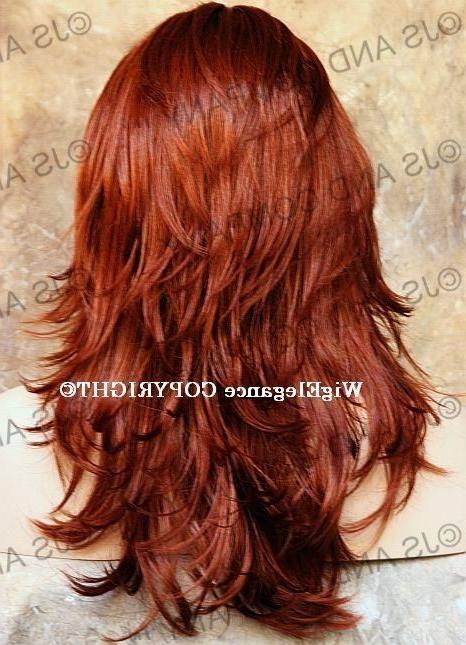 Relaxed Multi Layered Flip Out Style Long Copper Red ? It. (View 9 of 25)