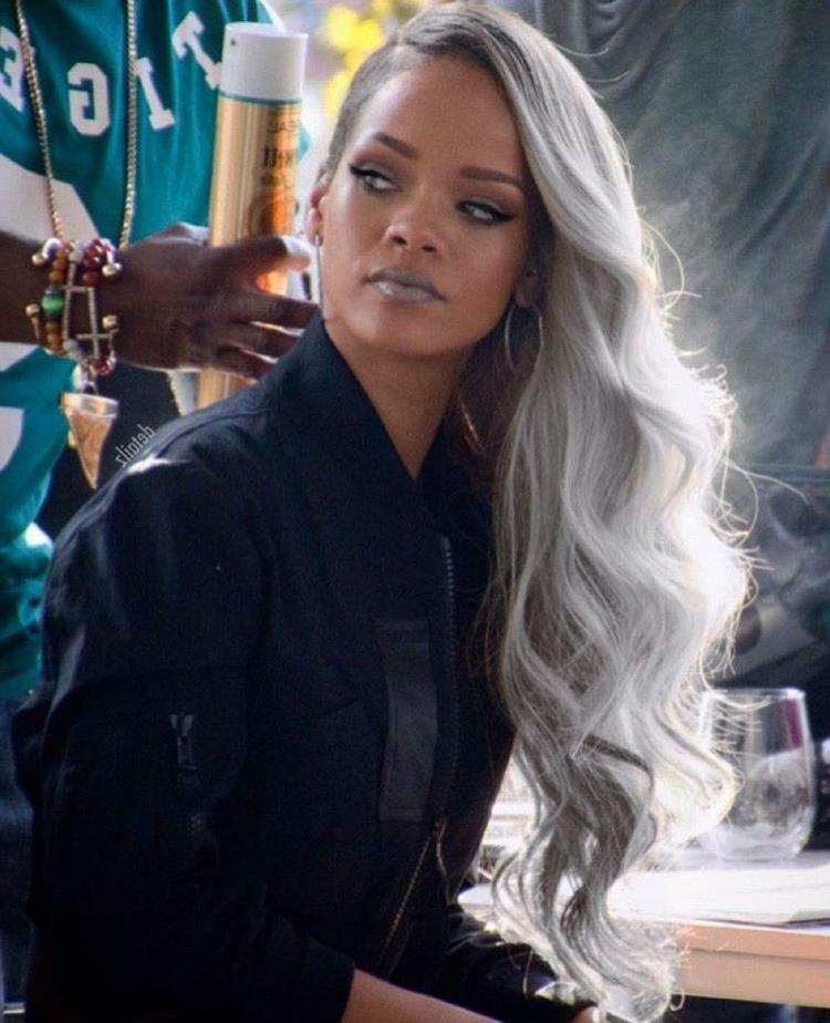 Rihanna Grey Hair | Hairspiration | Long Hair Styles, Hair, Rihanna With Regard To Rihanna Long Hairstyles (View 21 of 25)