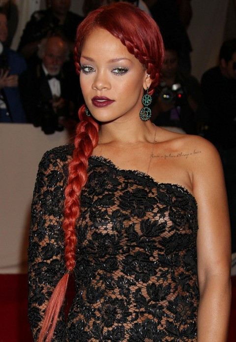 Rihanna Hairstyles Gallery – 28 Rihanna Hair Pictures – Pretty Designs Throughout Rihanna Long Hairstyles (View 20 of 25)
