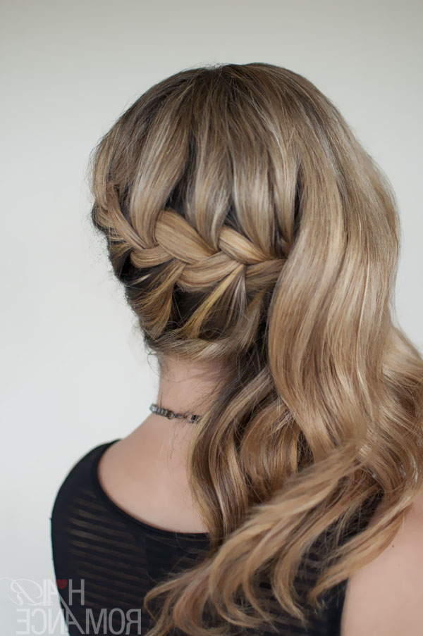 Romantic Side Swept French Braid – Holiday Hair Inspirations With Side Swept Brunette Waves Hairstyles For Prom (View 13 of 25)