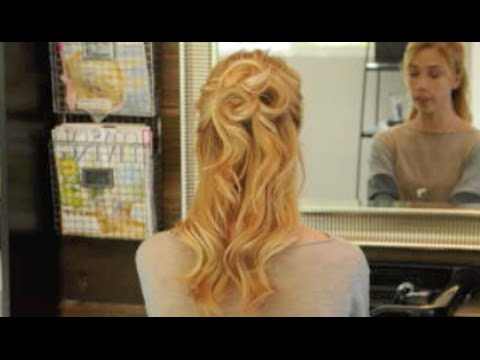 Rosette Half Updo – Youtube Intended For Rosette Curls Prom Hairstyles (View 18 of 25)