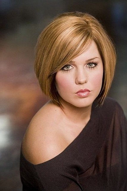 Round Full Face Women Hairstyles For Short Hair – Popular Haircuts Inside Long Hairstyles For Fat Women (View 12 of 25)