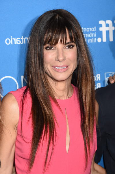 Sandra Bullock's Sleek Straight Tresses – The Best Modern Haircuts With Regard To Sleek, Straight Tresses For Long Hairstyles (View 10 of 25)