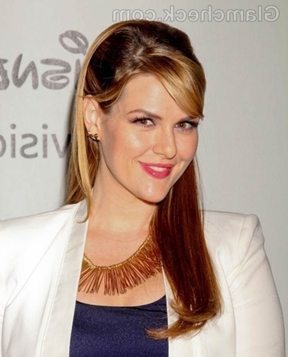 Sara Rue Charming In Pinned Back Hairstyle With Regard To Long Hairstyles Pinned Back (View 24 of 25)