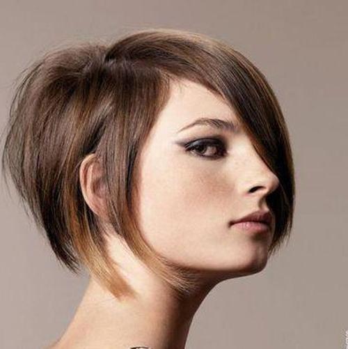 Short Bob Hairstyles With Bangs Half Bangs – Cool & Trendy Short Within Half Short Half Long Hairstyles (View 6 of 25)