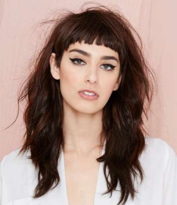 Short Cropped Bangs With Long Messy Hair. Love It (View 21 of 25)