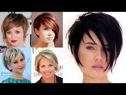 Short Hairstyles For Round Face And Thin Hair 2018 – Youtube Throughout Long Hairstyles For Round Faces And Fine Hair (View 22 of 25)