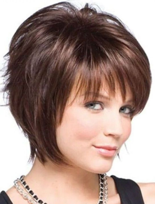 Short Hairstyles For Round Faces With Double Chin – Hairstyles Pertaining To Long Hairstyles For Fat Faces And Double Chins (View 23 of 25)