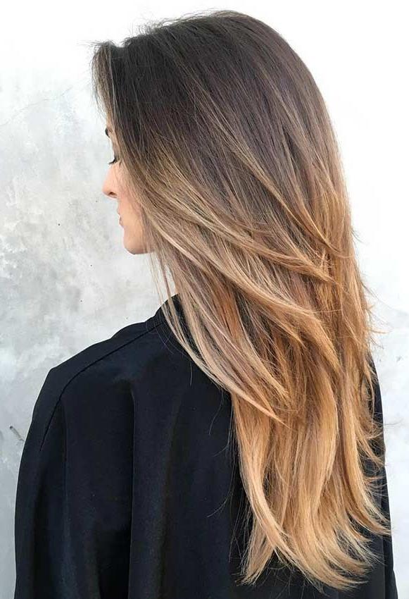 Shoulder Length Layers For Long Hair   Hair   Frizura Útmutatók Inside Long Hairstyles Layered Straight (View 6 of 25)
