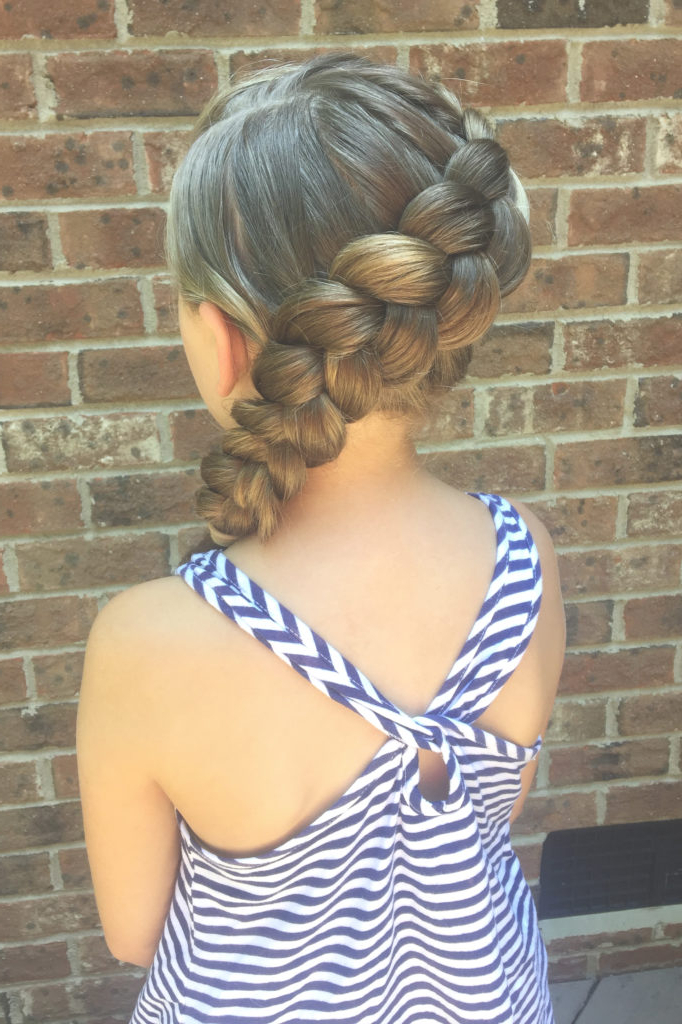 Side Braid Hairstyle | Girl Wedding Hairstyle – Cherry Blossom Belle Intended For Blooming French Braid Prom Hairstyles (View 24 of 25)