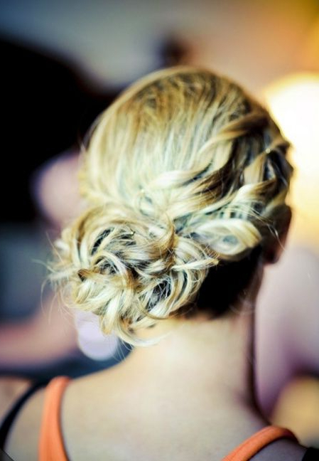 Side Bun With Twists | ?Street Fashion? | Wedding Hair, Makeup Intended For Spirals Side Bun Prom Hairstyles (View 9 of 25)