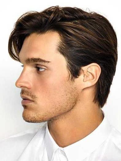 Side Part Haircut Main Medium Length Hairstyles For Guys & Haircut In Medium Long Hairstyles For Guys (View 20 of 25)