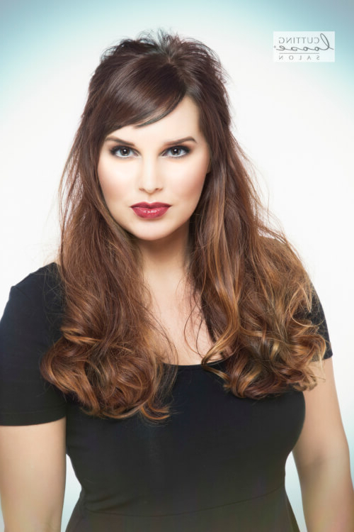 Side Swept Bangs: 46 Ideas That Are Hot In 2019 For Long Haircuts With Swoop Bangs (View 9 of 25)