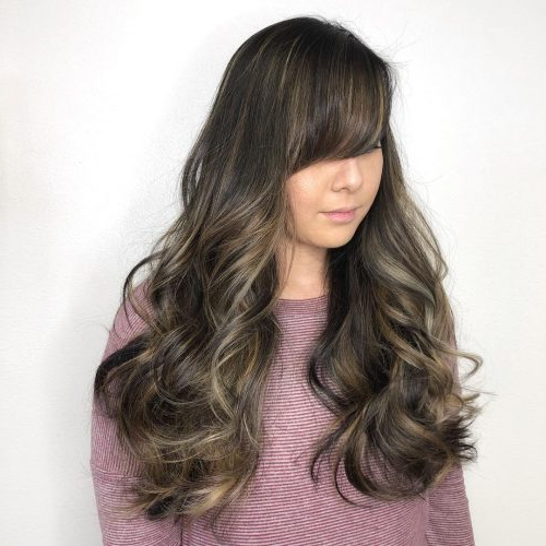 Side Swept Bangs: 46 Ideas That Are Hot In 2019 With Regard To Long Haircuts With Side Swept Bangs (View 14 of 25)