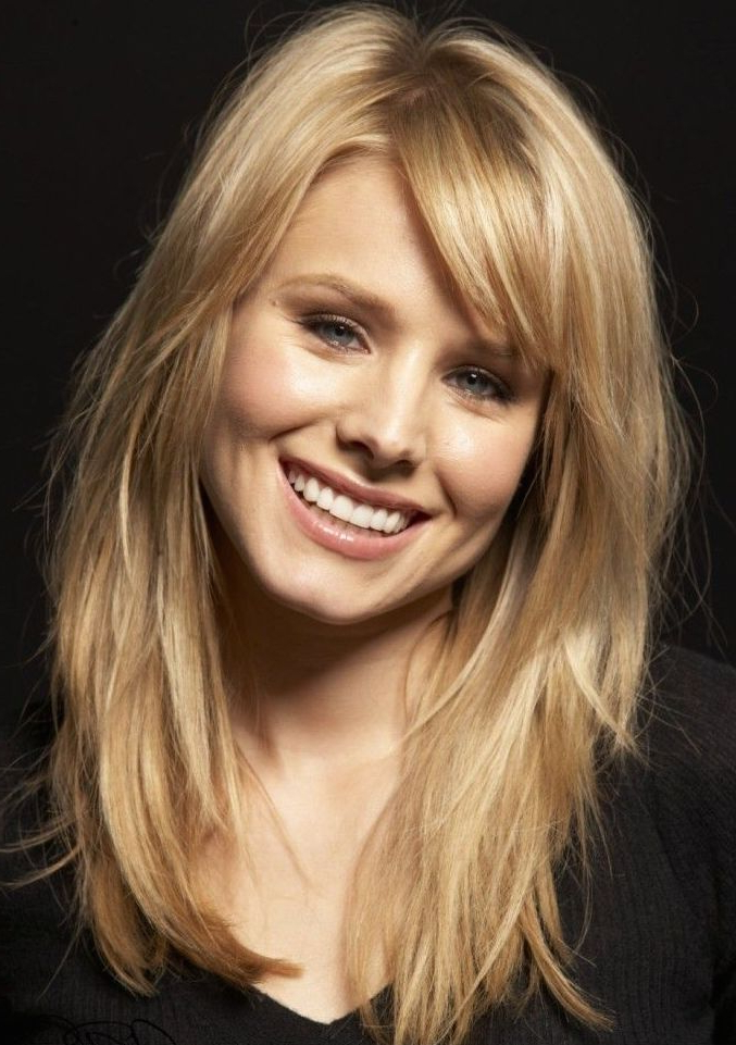 Side Swept Bangs For A Round Face Shape – Hair World Magazine With Round Face Long Hairstyles With Bangs (View 22 of 25)