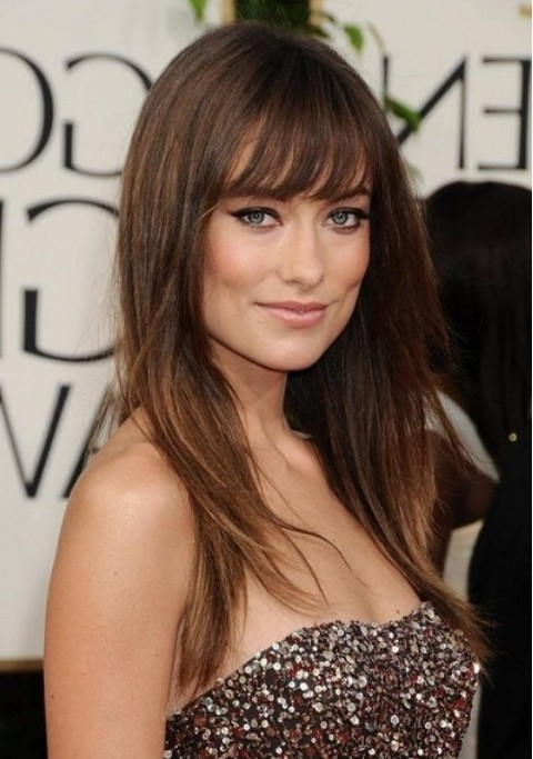 Side Swept Bangs For A Square Face – Women Hairstyles Pertaining To Long Hairstyles For Square Faces With Bangs (View 3 of 25)