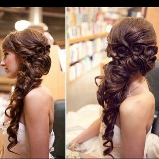 Side Swept Prom Hairstyles For Long Hair 2018 – Hairstyles Parlor Inside Long Hairstyles To The Side (View 12 of 25)